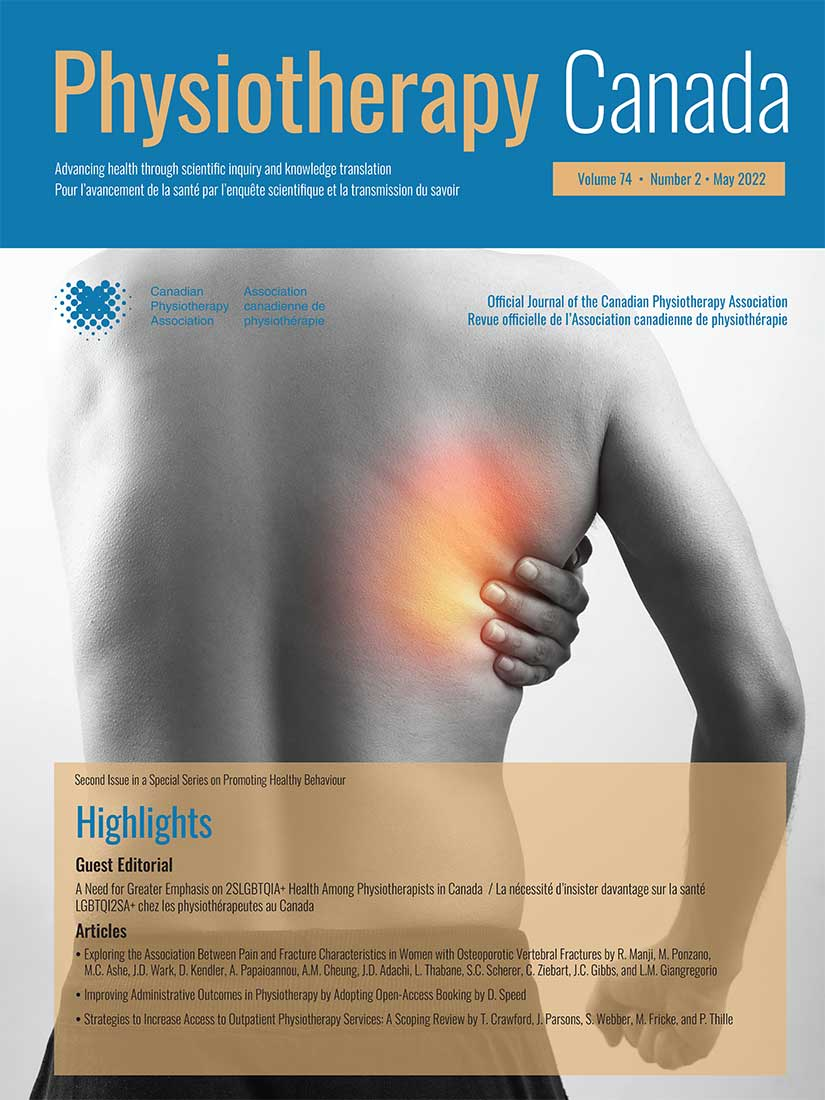 Physiotherapy Canada Utp Journals